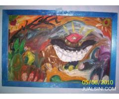 lukisan abstrak dajjal