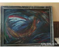 lukisan abstrak judul kapal badai