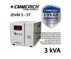 Stabilizer Listrik Emmerich iDVM 3 kVA - ST, 1 Phase, Germany Tech