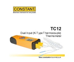 Jual CONSTANT TC12 Dual Input Thermometer Type-K