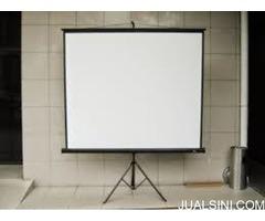 layar proyektor screen 70inch tripod