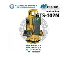 =081310066673=JUAL  TOTAL STATION TOPCON GTS-102N
