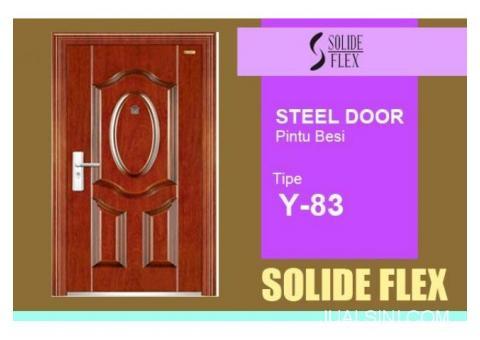 Pintu Besi Solide Flex Tipe Y-83 di Surabaya Tahan Segala Cuaca