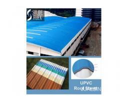 Atap UPVC Roofsheet Surabaya 1410 Merk Solide Flex bisa meredam suara