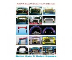 JUAL DAN SEWA BALON GATE,BALON GAPURA,BALON START FINISH,BALON GERBANG