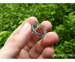 Ring Cincin Jadeite Jade Type A JDT009 Natural Giok Origin Burma