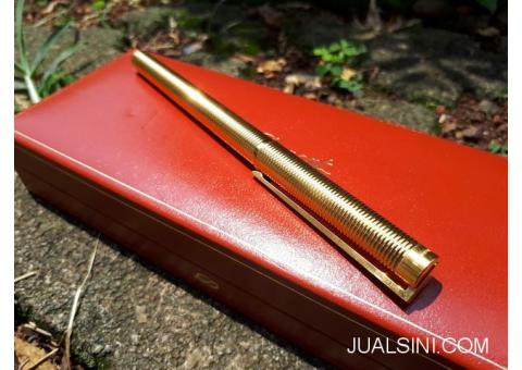 Pulpen Mewah S.T. Dupont Seri 5E5BC94 Classic 18K Gold Pen With Box