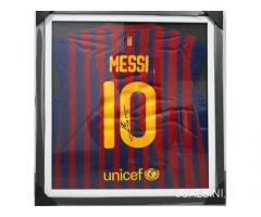 Jersey Barcelona Lionel Messi No 10 Tanda Tangan Messi sertifikat