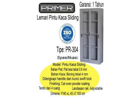 lemari pintu sliding kaca primer tipe pr304