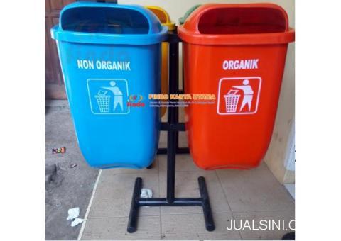 Tempat Sampah Gandeng Fiberglass Organik Non Organik