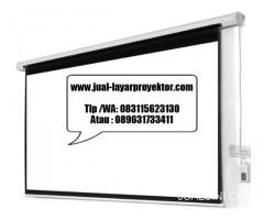 jual screenprojector motorized 3meter X 3meter