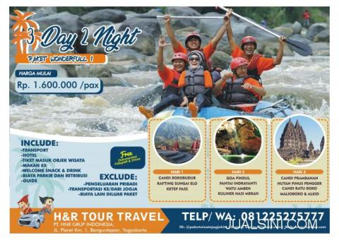 PAKET WISATA 3H2M WONDERFUL #1 H&R TOUR TRAVEL JOGJA