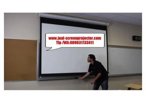 jual layar manual proyektor