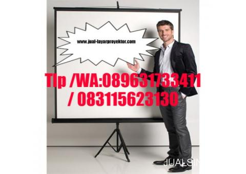 jual screen tripod projector 178cm x 178cm