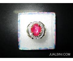 Batu Ruby Birma Super Ikatan Emas Berlian Sertifikat Big Lab RB003
