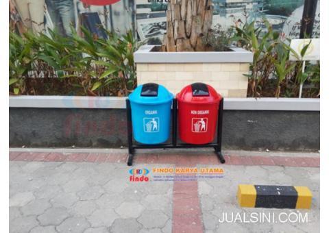 Tempat Sampah Fiberglass Pilah Organik Non Organik