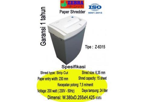 Paper shredder zebra tipe z6315