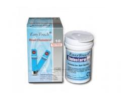 Easy Touch Blood Cholesterol Test Strips Isi 10 Original Taiwan