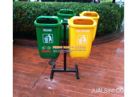 Produk Tempat Sampah Oval Dua Warna