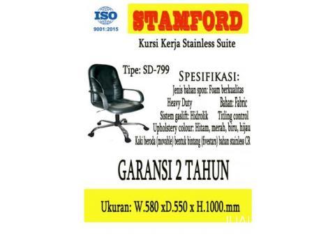 Kursi kerja stamford stainless suite tipe sd799