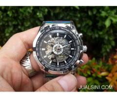 Jam Tangan Automatic Winner 340 Men Skeleton Sport Relogio Masculino