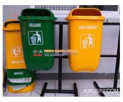 Tempat Sampah Dua Warna Model Oval
