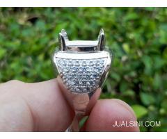 Ring Cincin Perak Hongkong 925 Kombinasi Zircon Mewah PRK046