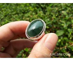 Cincin Permata Giok Jadeite Jade Type A JDT014 No Treatment Memo DGL