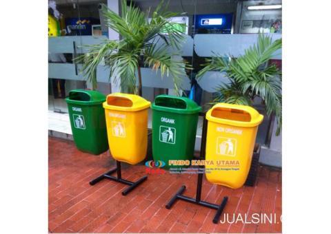 Tong Sampah Bulat Outdor Dua Pilah 002