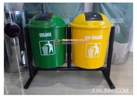 Distributor Tong Sampah Outdor Bulat Dua Warna 005
