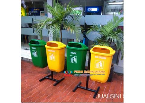 Pusat Tong Sampah Outdor Oval Dua Pilah