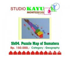 Puzzle Map of Sumatera