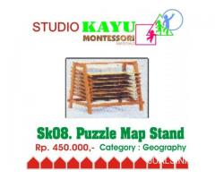 Puzzle Map Stand